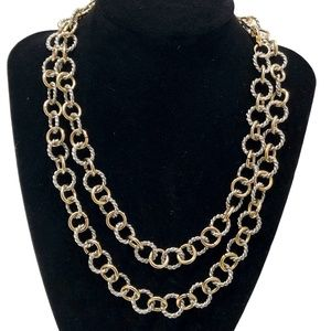 GOLD AND SILVER TONE CABLE NECKLACE